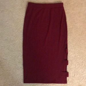 Never worn wine colored skirt JOA los angles